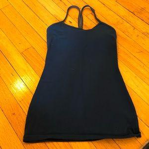 Lululemon power Y tank!! Dark turquoise size 2